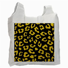Skin5 Black Marble & Yellow Colored Pencil Recycle Bag (one Side)