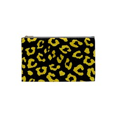 Skin5 Black Marble & Yellow Colored Pencil Cosmetic Bag (small)