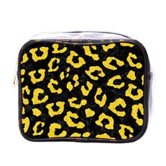 Skin5 Black Marble & Yellow Colored Pencil Mini Toiletries Bags