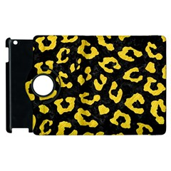 Skin5 Black Marble & Yellow Colored Pencil Apple Ipad 3/4 Flip 360 Case