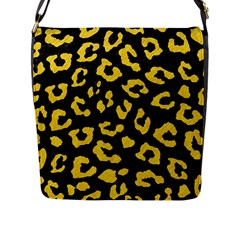 Skin5 Black Marble & Yellow Colored Pencil Flap Messenger Bag (l)