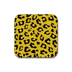 Skin5 Black Marble & Yellow Colored Pencil (r) Rubber Square Coaster (4 Pack)