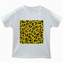 Skin5 Black Marble & Yellow Colored Pencil (r) Kids White T Shirts
