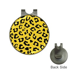 Skin5 Black Marble & Yellow Colored Pencil (r) Hat Clips With Golf Markers