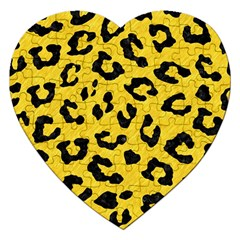 Skin5 Black Marble & Yellow Colored Pencil (r) Jigsaw Puzzle (heart)