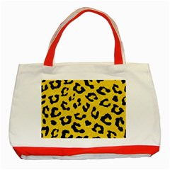 Skin5 Black Marble & Yellow Colored Pencil (r) Classic Tote Bag (red)