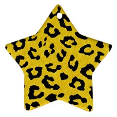 Skin5 Black Marble & Yellow Colored Pencil (r) Star Ornament (two Sides)