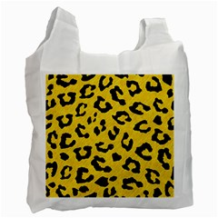 Skin5 Black Marble & Yellow Colored Pencil (r) Recycle Bag (one Side)