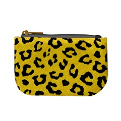 Skin5 Black Marble & Yellow Colored Pencil (r) Mini Coin Purses