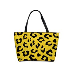 Skin5 Black Marble & Yellow Colored Pencil (r) Shoulder Handbags