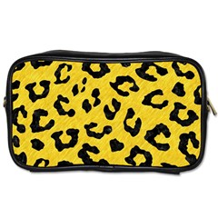 Skin5 Black Marble & Yellow Colored Pencil (r) Toiletries Bags 2 Side