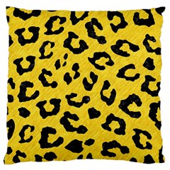 Skin5 Black Marble & Yellow Colored Pencil (r) Large Cushion Case (two Sides)