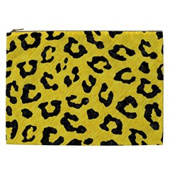 Skin5 Black Marble & Yellow Colored Pencil (r) Cosmetic Bag (xxl)