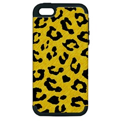 Skin5 Black Marble & Yellow Colored Pencil (r) Apple Iphone 5 Hardshell Case (pc+silicone)