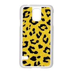 Skin5 Black Marble & Yellow Colored Pencil (r) Samsung Galaxy S5 Case (white)