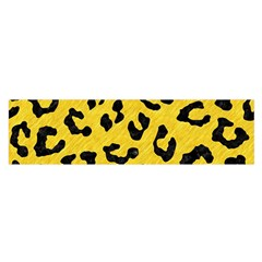 Skin5 Black Marble & Yellow Colored Pencil (r) Satin Scarf (oblong)