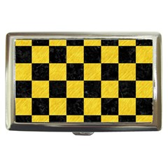 Square1 Black Marble & Yellow Colored Pencil Cigarette Money Cases