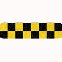 Square1 Black Marble & Yellow Colored Pencil Large Bar Mats