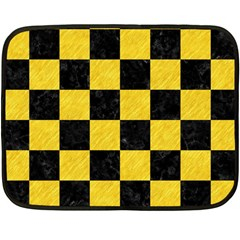 Square1 Black Marble & Yellow Colored Pencil Double Sided Fleece Blanket (mini)
