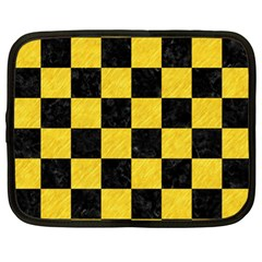 Square1 Black Marble & Yellow Colored Pencil Netbook Case (xl)