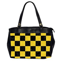 Square1 Black Marble & Yellow Colored Pencil Office Handbags (2 Sides)