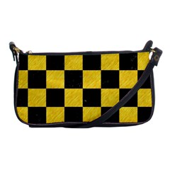 Square1 Black Marble & Yellow Colored Pencil Shoulder Clutch Bags