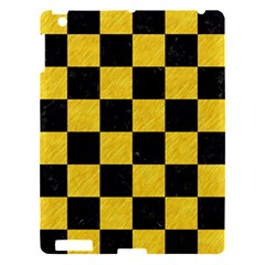 Square1 Black Marble & Yellow Colored Pencil Apple Ipad 3/4 Hardshell Case