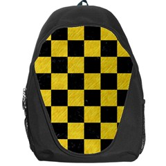Square1 Black Marble & Yellow Colored Pencil Backpack Bag