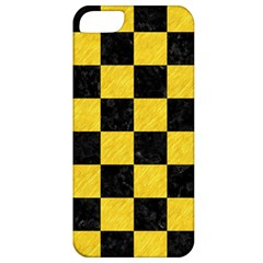 Square1 Black Marble & Yellow Colored Pencil Apple Iphone 5 Classic Hardshell Case