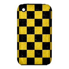 Square1 Black Marble & Yellow Colored Pencil Iphone 3s/3gs