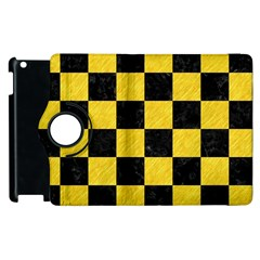 Square1 Black Marble & Yellow Colored Pencil Apple Ipad 2 Flip 360 Case