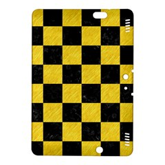 Square1 Black Marble & Yellow Colored Pencil Kindle Fire Hdx 8 9  Hardshell Case