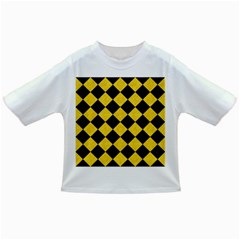 Square2 Black Marble & Yellow Colored Pencil Infant/toddler T Shirts