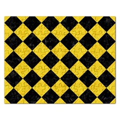 Square2 Black Marble & Yellow Colored Pencil Rectangular Jigsaw Puzzl