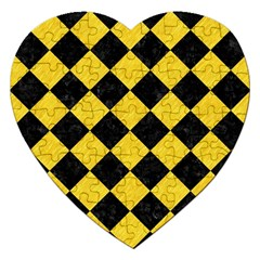 Square2 Black Marble & Yellow Colored Pencil Jigsaw Puzzle (heart)