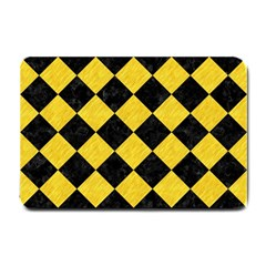 Square2 Black Marble & Yellow Colored Pencil Small Doormat