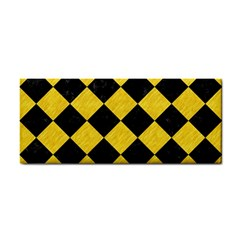 Square2 Black Marble & Yellow Colored Pencil Cosmetic Storage Cases