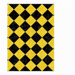 Square2 Black Marble & Yellow Colored Pencil Small Garden Flag (two Sides)