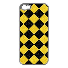 Square2 Black Marble & Yellow Colored Pencil Apple Iphone 5 Case (silver)
