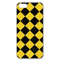 Square2 Black Marble & Yellow Colored Pencil Apple Seamless Iphone 5 Case (clear)