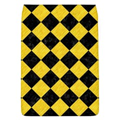 Square2 Black Marble & Yellow Colored Pencil Flap Covers (l)