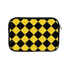 Square2 Black Marble & Yellow Colored Pencil Apple Ipad Mini Zipper Cases
