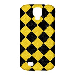 Square2 Black Marble & Yellow Colored Pencil Samsung Galaxy S4 Classic Hardshell Case (pc+silicone)