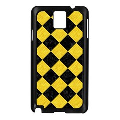 Square2 Black Marble & Yellow Colored Pencil Samsung Galaxy Note 3 N9005 Case (black)