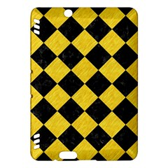 Square2 Black Marble & Yellow Colored Pencil Kindle Fire Hdx Hardshell Case