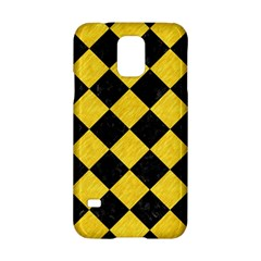Square2 Black Marble & Yellow Colored Pencil Samsung Galaxy S5 Hardshell Case