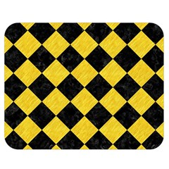 Square2 Black Marble & Yellow Colored Pencil Double Sided Flano Blanket (medium)