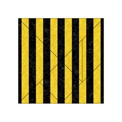 Stripes1 Black Marble & Yellow Colored Pencil Acrylic Tangram Puzzle (4  X 4 )