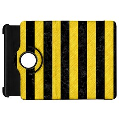 Stripes1 Black Marble & Yellow Colored Pencil Kindle Fire Hd 7