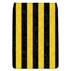 Stripes1 Black Marble & Yellow Colored Pencil Flap Covers (l)